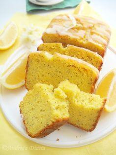 Cake with yogurt, lemon and poppy Lemon Desserts, Dessert Recipes, Yams, Cake Cookies, Cornbread, Deserts, Sweets, Baking, Ethnic Recipes