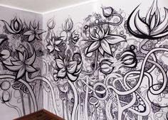 very largeWall Zentangle - flowering by LAB261 , via Behance illustrationserved.com
