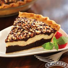 Cream Cheese Brownie Pie from Smucker's®
