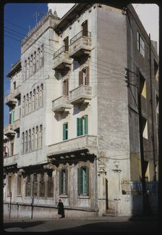 Old Building in #Beirut [1965] | Copyright Charles W. Cushman #ILoveLebanon #Lebanon, yeah!! this was in #Beirut
