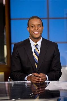 Craig Melvin Reporter and anchor on NBC--Wofford Man Craig Melvin, News Anchor, News Media, School Spirit, Favorite Tv Shows, Black Media, Anchors, Diva