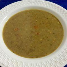 Receita de Sopa de Lentilha.