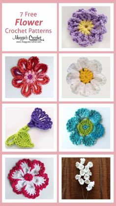 7 FLOWER CROCHET PATTERNS