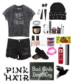 """""""~Who's that shadow holding me hostage?~"""" by little-miss-rae-rae ❤ liked on Polyvore featuring Zoe Karssen, Whistles, Bobbi Brown Cosmetics, Rimini, tenoverten, Manic Panic, Topshop, GHD and Vans"""