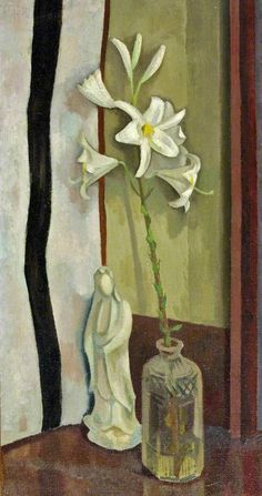 Lilies by Roger Eliot Fry Date painted: 1917 Oil on canvas, x cm Collection: Bristol Museum and Art Gallery Vanessa Bell, Dora Carrington, Duncan Grant, French Paintings, Your Paintings, Matisse, Bristol Museum, Critique D'art, Virginia Wolf
