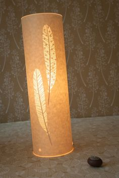 Tall Feather Table Lamp