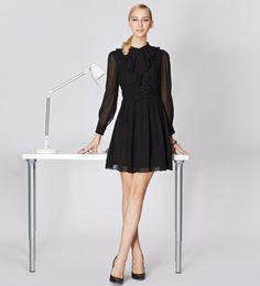 osell wholesale dropship Spring new fashion Slim black long-sleeved dress SL410028 $29.39