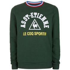 f194b7f55e51 TOPMAN Le Coq Sportif Dark Green St. Etienne Sweatshirt ( 62) ❤ liked on