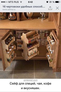 Ящик для хранения специй, чая и вкусняшек