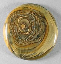 ROYAL SAHARA JASPER designer cab Silverhawk's designer gemstones.  Royal Sahara jasper was found in the North African Sahara desert by George and Janet  Sechler, owners of Oasis Prospecting.