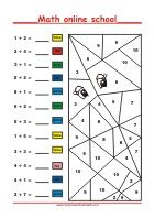 Grade Math Learning - Free Printable Math Worksheets and Activities Free Printable Math Worksheets, Free Printables, 1st Grade Math, Grade 1, Fun Math, Learning, Color By Numbers, Math Resources, School