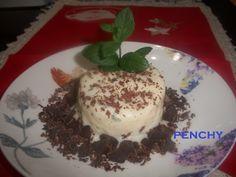 Helado de hierbabuena al aceite de oliva con chocolate
