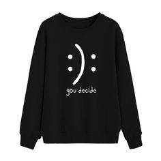 Item specifics Material: Polyester Hooded: No sweatshirt women: moletom woman sweaters pullover Funny Hoodies, Funny Sweatshirts, Sweat Shirt, Mode Für Teenies, Mode Kawaii, Funny Outfits, Sexy Outfits, Funny Clothes, Fashionable Outfits