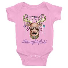 Naughty List Christmas Infant short sleeve one-piece