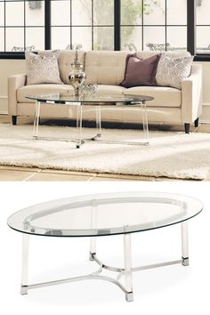 The Lucinda Occasional Collection decorates your home with simplistic luxury. The petite frame of this set makes it a subtle luxury of a glass coffee table. Grace your space with this beautiful collection and enjoy the way it lights up the room. #shopgahs #ohmygahs #coffeetable #cocktailtable #accenttable #livingroom #familyroom #den #grandroom #glasscoffeetable #glamstyle