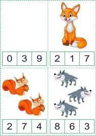 Resultado de imagen de okul öncesi sayı eşleştirme kartları