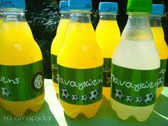 Ετικέτες για μπουκάλια με θέμα το ποδόσφαιρο Sugar, Football, Pearls, Birthday, Soccer, Futbol, Birthdays, Beads, American Football