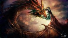 pictures of elves and pixies deviantart | Dragon and Elf by ~WUDUO on deviantART