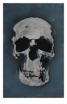 'Mr Blue Skull' as featured in series 1, 2 and 3 of BBC TV's 'Sherlock'221 signed, limited edition prints.43cm x 64cm.Printed onto 310gsm expressions paper.This is a fully archival museum quality cotton paper with a 125yr life.(Any orders placed prior to 18th December will be dispatched aiming for a Christmas delivery)