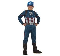 Capitán América - Disfraz Infantil Clásico 5-6 años