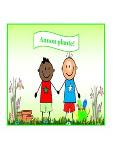Creole version of Let's Plant!. Published by Playtime Seychelles.