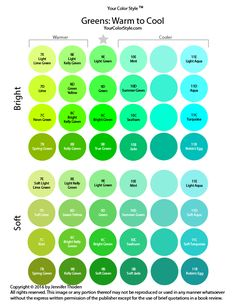 Shades of Green Color Theory - Your Color Style - Color Analysis green's your color - Green Things Green Color Chart, Green Colour Palette, Aqua Color, Green Colors, Different Shades Of Green, Shades Of Yellow, Color Shades, Deep Winter Colors, Spring Colors