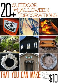 20+ Outdoor Halloween Decorations that you can make for less than $10! - All Cheap Crafts budget halloween diy #diy #halloween
