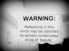 "riotisnotquiet: "" handsthatmold: "" I don't think I've ever been able to see myself for who I really am. "" [A greyscale photograph of a sign taped to a mirror, with the words ""WARNING:. The Words, Quotes To Live By, Me Quotes, Sarcastic Quotes, Wisdom Quotes, Indie Quotes, Quirky Quotes, Funny Sarcastic, Quotes Images"