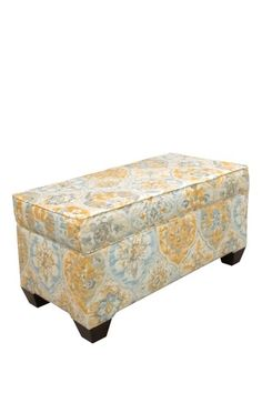 One Kings Lane - Furniture Bazaar - Dunne Storage Bench, Orange/Multi Lane Furniture, Furniture Ideas, Upholstered Storage Bench, Take Me Home, Inspired Homes, My New Room, Sofa Chair, Foot Rest, Sweet Home