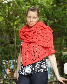 High Fructose Shawl - 4 skeins of O-Wool Balance Bulky #shawl #knit #organic