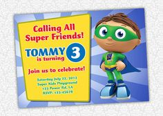 Super Why Birthday Invitation by PrintSparkle on Etsy, $5.00