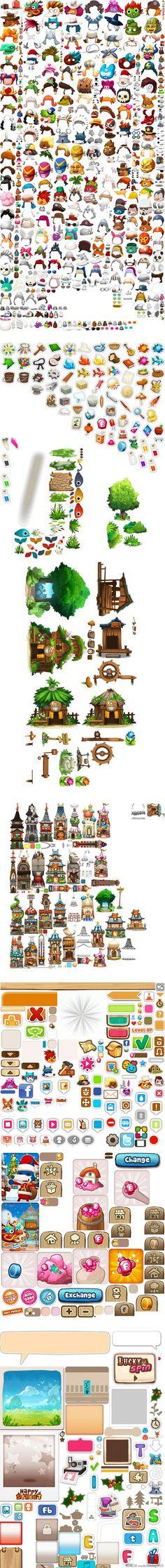 游戏美术资源/场景素材/2D资源 Q版横...