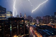Lightning Photography: Lightning City © Sam Javanrouh | #Photography #Lightning |