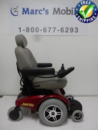The Jazzy select 14 XL is a powerful indoor/outdoor mobility wheelchair that has an Intelligent Braking system, Excellent Suspension, and will travel up to 5 MPH. With 14 inch drive wheels and large 9 inch rear casters, the Jazzy Select 14 XL has capabili Powered Wheelchair, Types Of Flooring, 6 Months, Outdoor Power Equipment, Baby Strollers, Charger, The Selection, Pride, Chairs