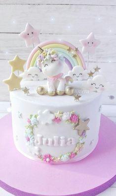 Broccoli and coconut cake - Clean Eating Snacks Baby Birthday Cakes, Unicorn Birthday Parties, Salty Cake, Girl Cakes, Savoury Cake, Baby Shower Cakes, Cake Designs, Cake Recipes, Cake Decorating