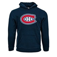 Levelwear MONTREAL Canadiens Suede Crest Eli Youth Pullover Hoodie Ys Navy