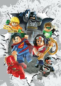 Lego Justice League Poster via PopKartSg Posters. Click on the image to see more!