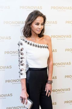 Isabel Preysler wearing a #PronoviasCocktail jumpsuit that was made in exclusive for the opening party