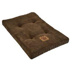 Tufted pet mattress in coffee liqueur.   Product: Pet mattressConstruction Material: Terry cloth and fiber fill