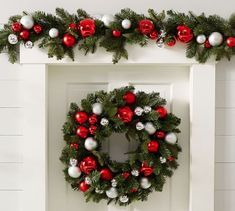 Add holiday cheer to your home with Pottery Barn's Christmas decorations, ornaments and lights. Pottery Barn has everything you need to put you in the Christmas spirit. Diy Christmas Garland, Silver Christmas Decorations, Christmas Balls, Christmas Home, Christmas Crafts, Holiday Decor, Xmas, Christmas Centerpieces, Holiday Wreaths