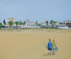 Momento IV – Belén Eizaguirre Alvear Oil On Canvas, Beaches, Illusions, Canvases