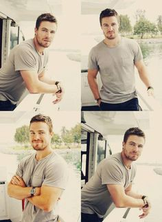 """Stephen Amell- personally, I see him as a great Christian Grey.. Especially given his """"rough around the edges"""" ARROW role."""