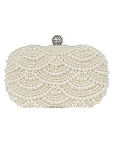 scalloped pearl clutch