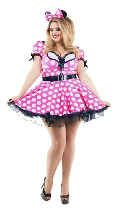 8e95f7174 Party King Pink Mouse Plus Size Costume Women s Costume - Nastassy Adult  Costumes