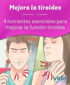 Nutrientes que ayudan a mejorar la tiroides.