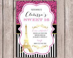 Dulce 16 invitación-París temático cumpleaños por MaddieKatDesign