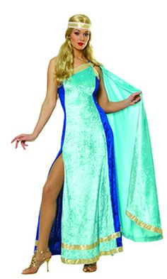 Athena may have been the favourite child of Zeus, but you'll be everyone's favourite in this beautiful Athena dress. Carnival Costumes, Halloween Costumes, Greek Godesses, Athena Costume, Country Costumes, Zeus Children, Goddess Costume, Costumes For Women, Costume Ideas