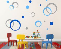 Limited Coupon Codes!! 1. Free Shipping for orders over $50 (Coupon Code: FreeShippingNow) 2. $20 off discount for orders over $100 (Coupon Code: 20OFF)   These are concentric circles wall pattern. It is a great decoration for your living-room. Such as, on the TV wall or behind the