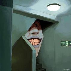 Macabre, horror, scary and nightmares on Make-your-own-world - DeviantArt Creepy Art, Weird Art, Arte Horror, Horror Art, Darkside, Arte Obscura, Dark Fantasy Art, Psychedelic Art, Surreal Art