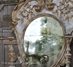Antique Paint Finish ::  Mirror & Photo by Elise Valdorcia®, Consultant in luxury Interior decor, color and home style